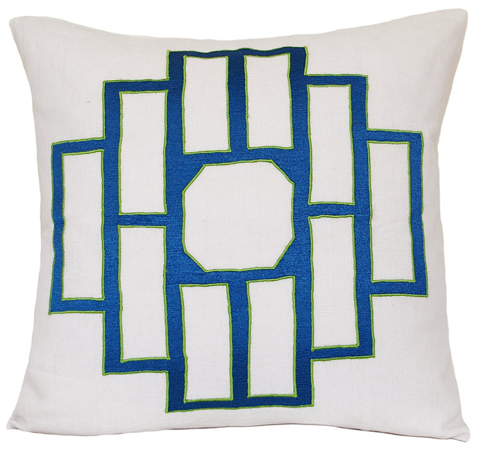 Azure Blue Mark Embroidered Pillowcase