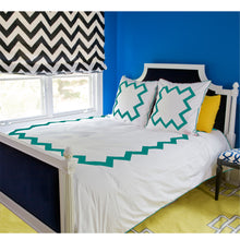 Load image into Gallery viewer, Turquoise Bang Bang Duvet Cover