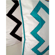 Load image into Gallery viewer, Turquoise Bang Bang Euro Sham