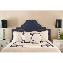 Load image into Gallery viewer, Navy Key Standard Sham