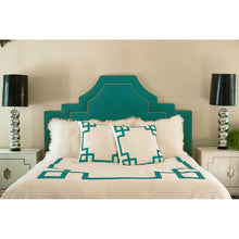 Load image into Gallery viewer, Turquoise Key Euro Sham