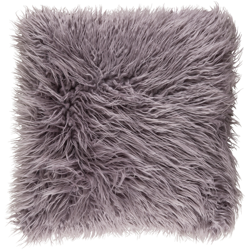 Grey Faux fur pillow