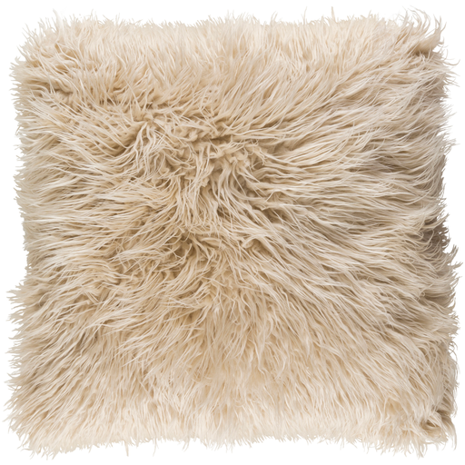 Khaki Faux fur pillow