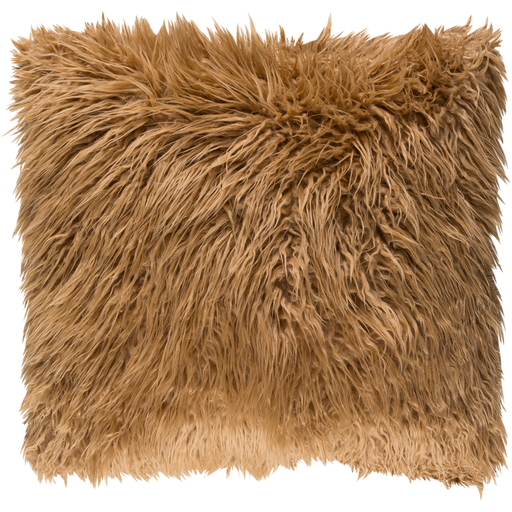 Camel Faux fur pillow