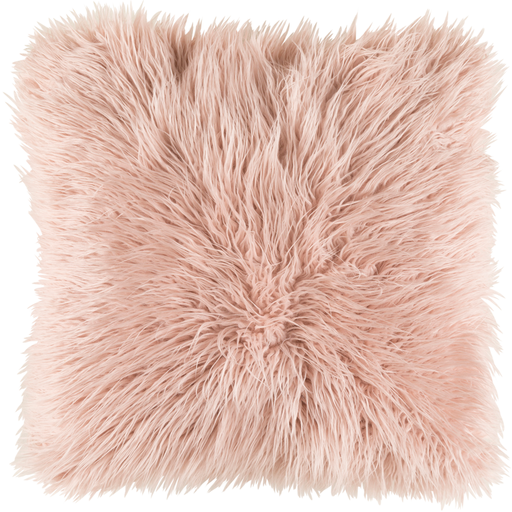 Blush Faux fur pillow