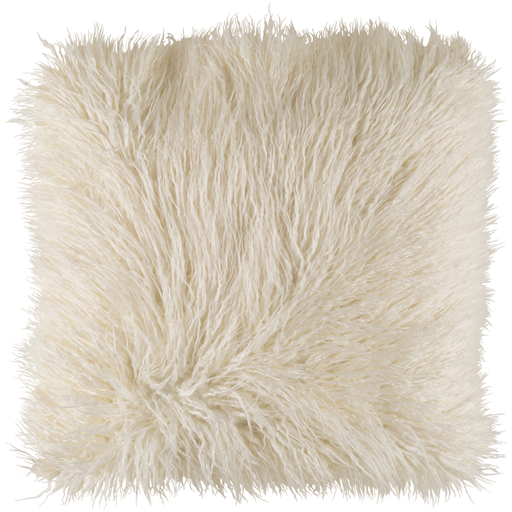 Ivory Faux fur pillow