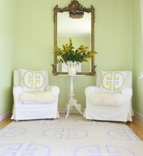 Load image into Gallery viewer, Lavender Monogram Rug