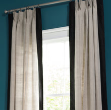 Load image into Gallery viewer, Natural Regency Curtain With Silk Border
