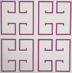 Magenta Greek Key Wallpaper