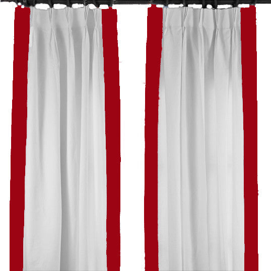 Red Regency Curtain
