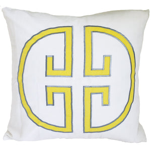 Sunshine Monogram Embroidered Pillow