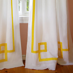 Greek Key Drapery - Sunshine