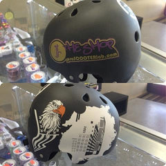 The Shop Pro Scooter Lab Custom Jake Clark Helmet - THE SHOP PRO SCOOTER LAB
