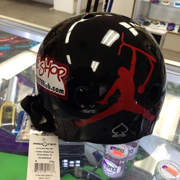 The Shop Pro Scooter Lab Custom Jordan Helmet