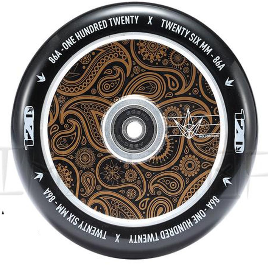 Envy Hollow Core Gold Bandana 120mm Wheels