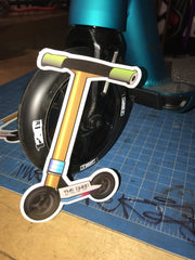 "Mini Scooter Sticker 5""h x 4""w"