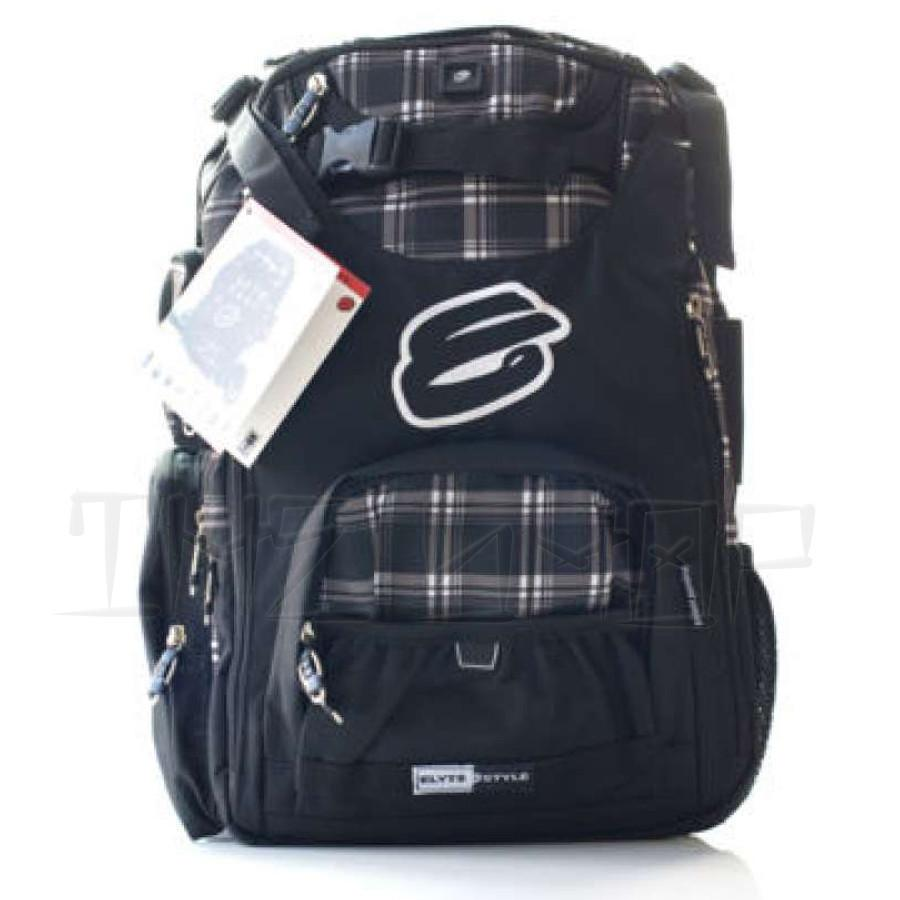 Elyts Backpack Plaid Black