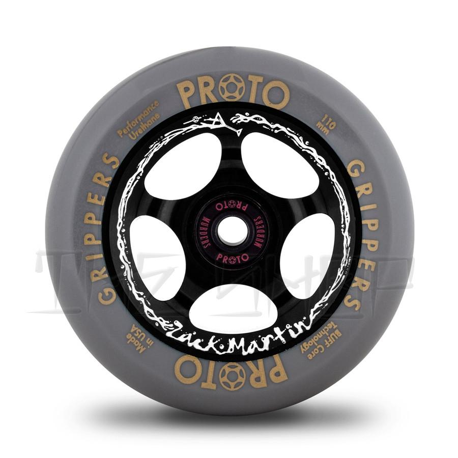 "Proto Gripper Zack Martin ""Wasted"" Signature Grey on Black 110mm Wheels"