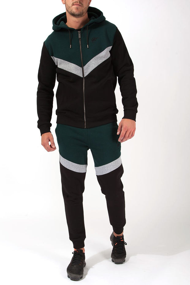Lenox Full Zip Chevron Hoodie Hoodies and Sweaters Hardcore Mens