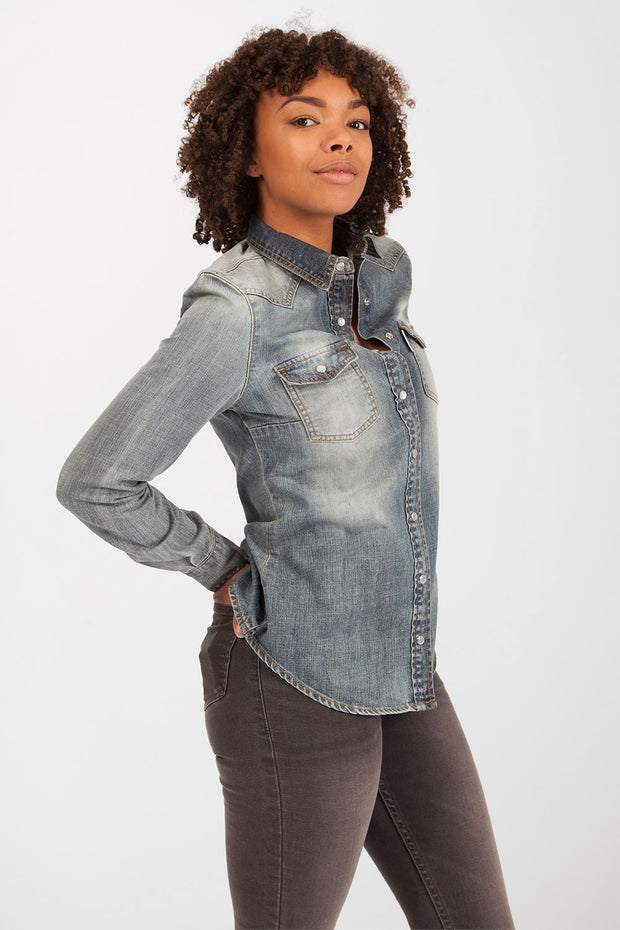 Lexi Loose Fit Denim Shirt Women's Denim Shirts Hardcore Womens