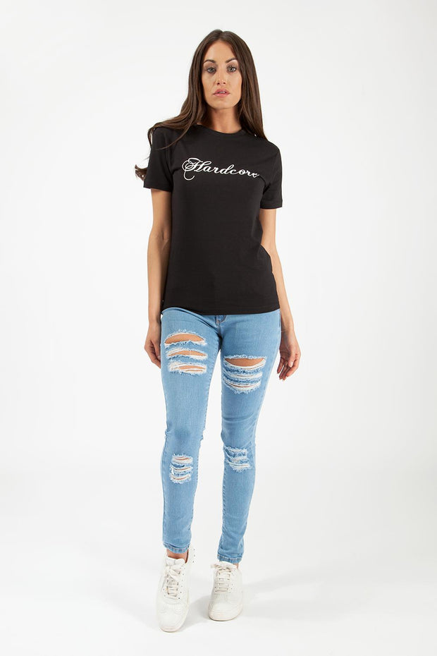 Manhattan Printed Signature T-Shirt Women's T-Shirt's Hardcore Womens