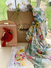 Load image into Gallery viewer, Her Birdy Box Scarf & Flowers