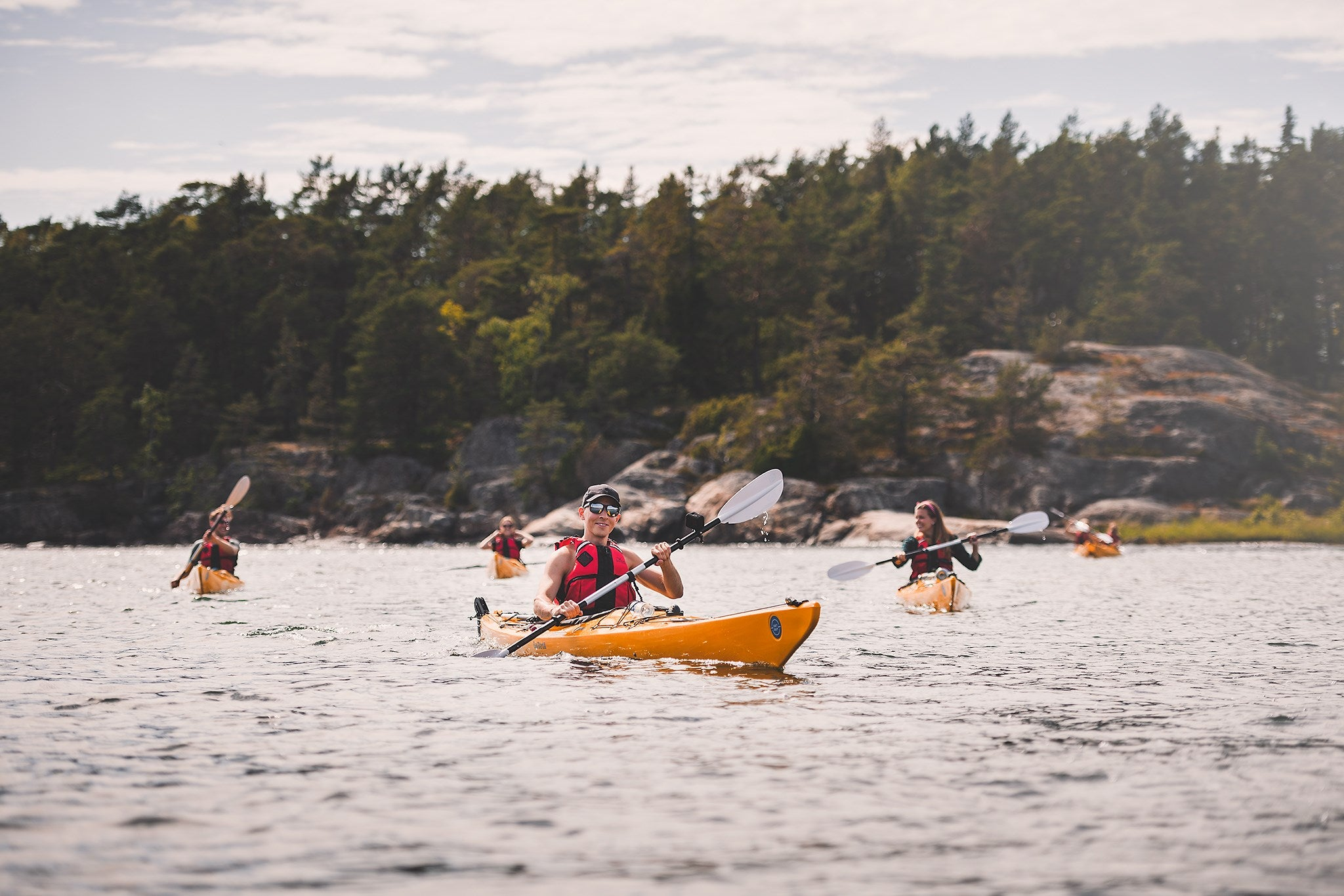 Self-guided kayaking expedition