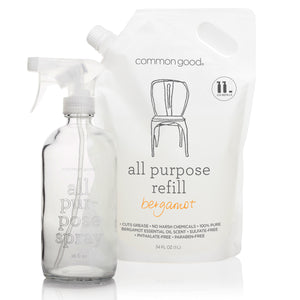 All Purpose Cleaner Refill Pouch and Glass Bottle Set