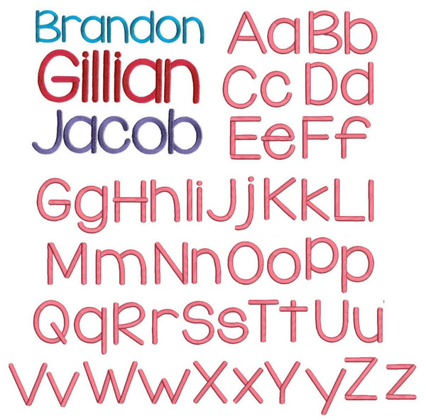 Monogramming Service Available Fonts - Lego Font