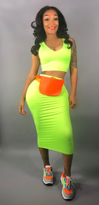 Simple Set Neon Green