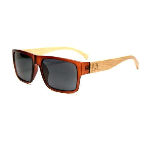 "Bamboo Wood Sunglasses ""Hacienda Brown Polarized"""