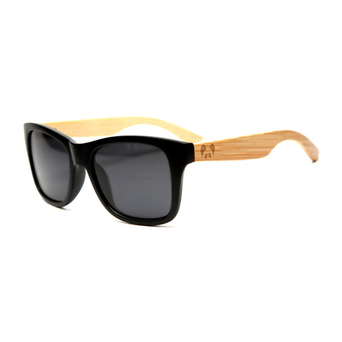 "Bamboo Wood Sunglasses ""Loomis Black Polarized"""