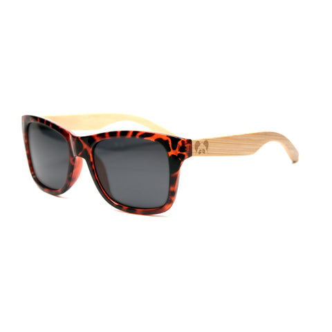 "Bamboo Wood Sunglasses ""Loomis Tortoise Polarized"""