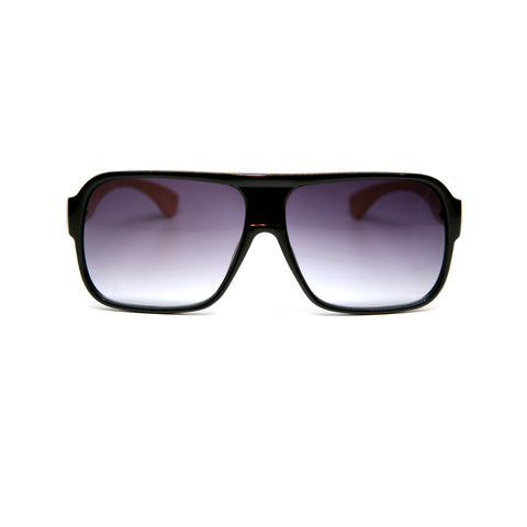 "Bamboo Wood Sunglasses ""Sheldon Black"""