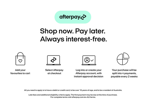 Buy now, Pay Later with Afterpay at Roxanna the Label
