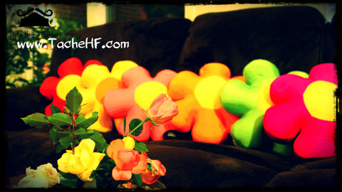 Tache Micro bead Flower Pillows