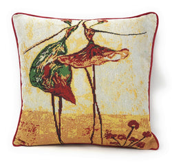 Tache Abstract Art Dancing Ladies Beige Woven Tapestry Cushion Cover (18110) - Tache Home Fashion