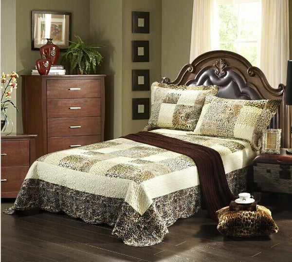 Tache 2-3 Piece Cruelty Free Animal Print Wild Safari Bedspread Quilt Set - Tache Home Fashion
