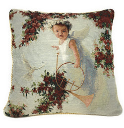 Tache Cupid's Horn 18 x 18 Inch Woven Tapestry Throw Pillow Cushion Cover (16375) - Tache Home Fashion