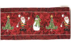 Tache Here Comes Santa Claus Vintage Holiday Woven Tapestry Table Runners (8577TR) - Tache Home Fashion