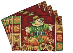 Tache Pumpkin Patch Scarecrow Autumn Harvest Woven Tapestry Placemat (12921PM)