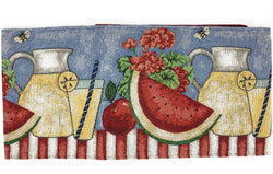 Tache Fruity Drinks Watermelon Lemonade Woven Tapestry Table Runners (13082TR) - Tache Home Fashion