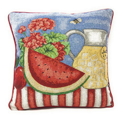 Tache Fruity Drinks Watermelon Lemonade Woven Tapestry Cushion Cover (13082CC) - Tache Home Fashion