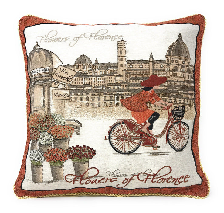 Tache Girls Day Out  Woven Throw Pillow Cushion Covers (14003) - Tache Home Fashion