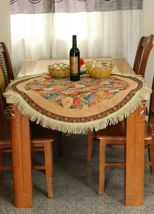 Tache Colorful Country Rustic Floral Morning Awakening Woven Tapestry Tablecloth (DBTC-3089B) - Tache Home Fashion