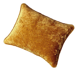 Tache Velvet Dreams Melted Gold Plush Waves Pillow Sham (JHW-852Y)