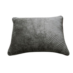 Tache Dark Brown Velvety Dreams Luxury Velveteen Plush Waves Pillow Sham (JHW-852BR-Sham) - Tache Home Fashion