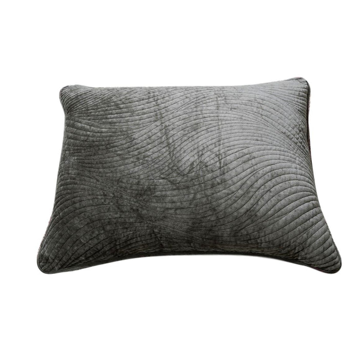 Tache Dark Brown Velvety Dreams Plush Waves Pillow Sham (JHW-852BR) - Tache Home Fashion