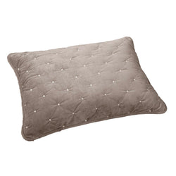Tache Tan Beige Velvety Dreams Luxury Velveteen Plush Diamond Tufted Pillow Sham (JHW-853B-Sham)