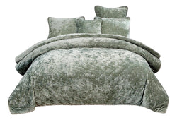 Tache Velvet Dreams Light Green Plush Diamond Tufted Bedspread (JHW-853G) - Tache Home Fashion